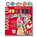 Pevná tempera MAKE UP - Basic 6 barev po 5g