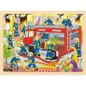 Puzzle – hasiči při zásahu, 48 dílů